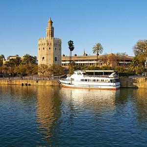 La Torre del Oro, sur les rives du Guadalquivir