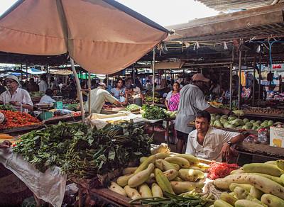 Le marché du dimanche à Flacq, dans l'est de l'île