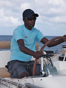 Très concentré, notre skipper...
