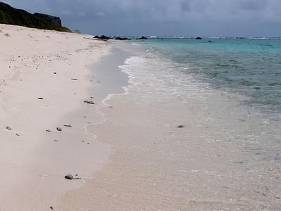 Pas de sable, mais des débris de corail