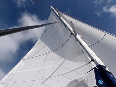 La voilure est bien établie sous un vent de force 4