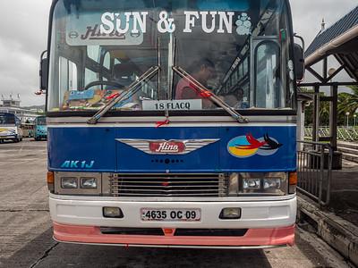 Le bus pour Flacq