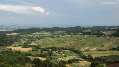 La campagne toscane au mois de juin
