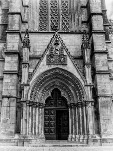 Le portail du monastère de Batalha