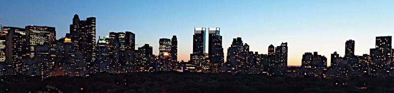 Un spectacle inoubliable que ce crépuscule new-yorkais...