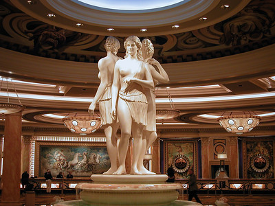 Le lobby du Caesars Palace