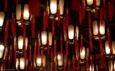 Lanternes au plafond