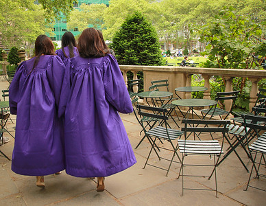 Graduates at Bryant Park, orange would have looked better...
