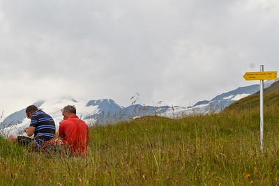 ff snacken met uitzicht op de eerste gletsjers