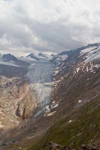 Nog een keer de mooie gletsjer tegenover het Ramolhaus