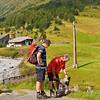 Begin wandeling, van pension Dorf-Alm naar het Ramolhaus, ca. 1200 m stijgen naar iets meer dan 3000 m...<br /> <br /> In ieder geval mooi weer!!!