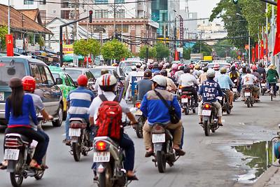 En nog meer motorfietsen, het loopt helemaal vol!