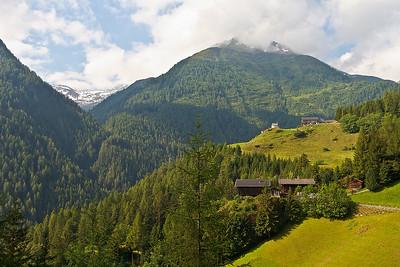 Uitzicht op weg naar tussenstop stabanthütte.