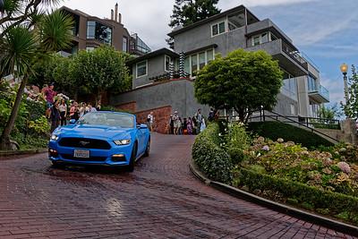 Lombard Street en cabriolet !