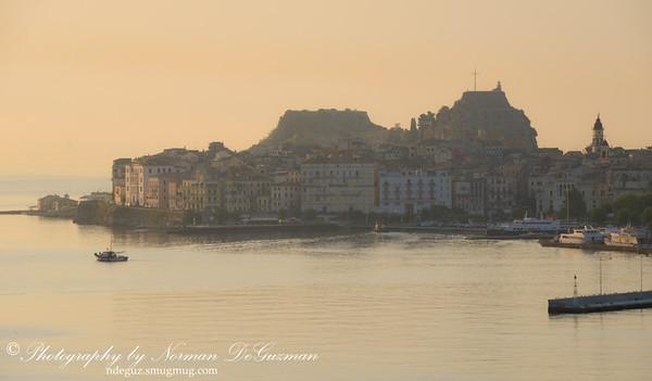 Fog in Corfu Port