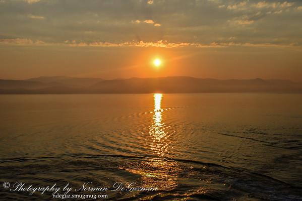 Sunrise in Corfu Port
