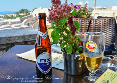 Greek beer on a hot day
