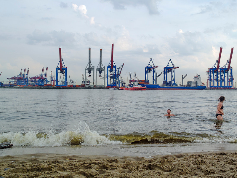 Hambourg-plage. Juillet 2013