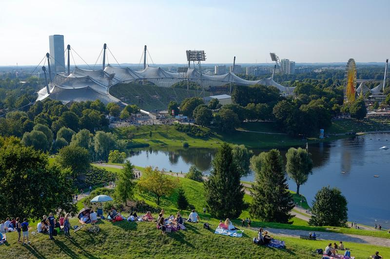 Picnic au Parc olympique, Munich. Août 2016