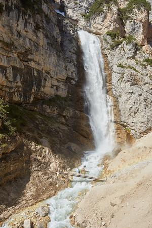 Cascate de Fanes, Dolomites, Italie