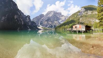 Lago di Braie, Dolomites, Italie