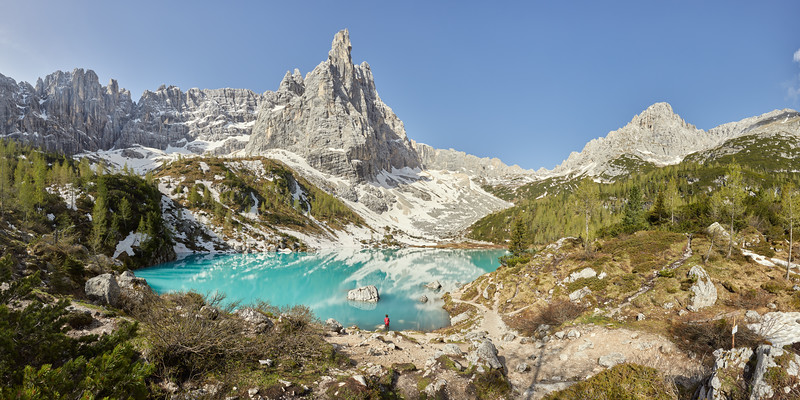 Lago del Sorapiss, Dolomites, Italie