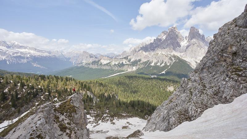 Monte Cristallo-Piz Popena, Dolomites, Italie