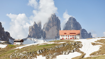 Rifugio Locatelli, Tre Cime di Lavaredo, Dolomites, Italie