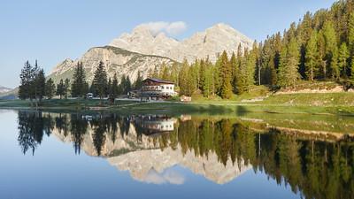 Lago Antorno, Dolomites, Italie
