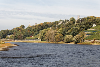 Les châteaux au bord de l'Elbe
