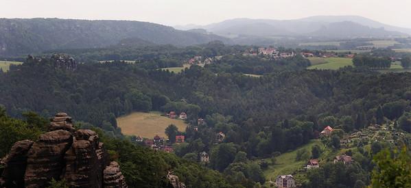 Bastei : vallée de l'Elbe
