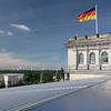 Vue de Berlin du toit du Reichstag