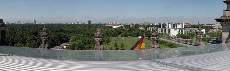 Le Iergarten vu du toit du Reichstag