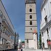 C'est du sommet de cette tour appelée tour noire que nous avons pu observer la place Przemysl Otakar II