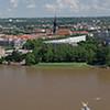 L'Elbe vue du clocher de l'église (28 photos assemblées))