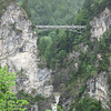 Pont suspendu pour observer le château Neuschwanstein