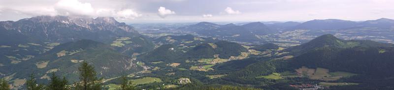 Vue des Alpes du côté de Salzbourg