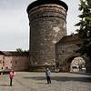 Une des tours du mur ceinturant la vieille ville de Nuremberg.