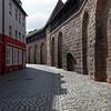 Une partie du mur qui ceinture la vieille ville de Nuremberg.