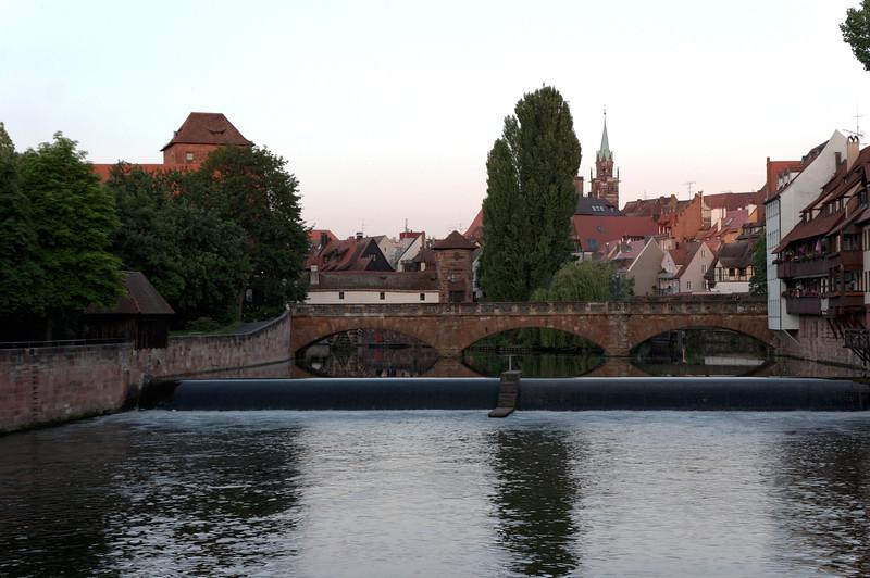 Rivière Pegnitz Nuremberg