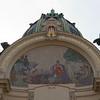 Détail de la fresque du portail de la maison municipale