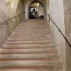 Escalier donnant accès au château Festung Hohensalzburg