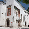 À l'intérieur des murs du château Festung Hohensalzburg