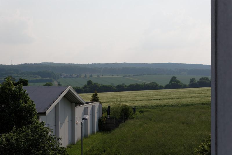 Vue à partir de notre chambre de la campagne allemande