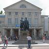 Goethe et Shiller devant le théatre