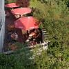 Vue de la terasse de l'hôtel Radisson Park Inn où nous avons soupé et couché