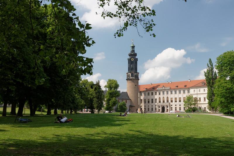 Le palais Ducal sur la Burgplatz avec son grand espace vert pour le repos et le farniente.