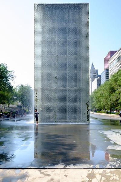«The Crown Fountain» de Jaume Plensa, 2004