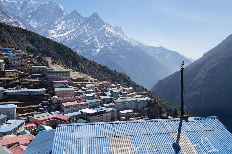Namche Bazar (3440 m). Everest, février 2019
