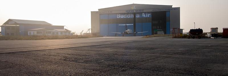 Aéroport Tribhuvan. Katmandou, février 2019